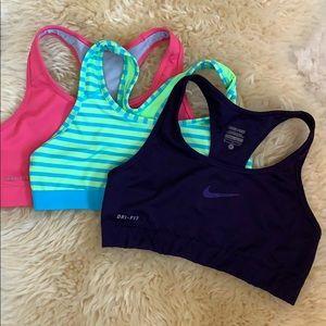 3 Nike sports bras